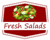 čerstvé saláty — Stock vektor