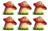 Mushroom expression — Stockvektor