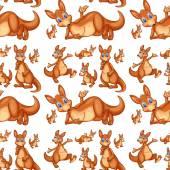 Seamless kangaroo — Stock Vector