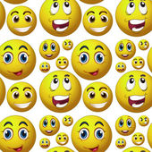 Seamless happy face — Wektor stockowy