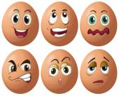 Egg expressions — Stock Vector