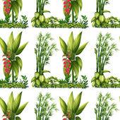 Seamless plants — Stock Vector