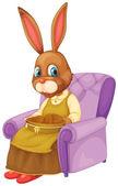 Rabbit sitting — Stock Vector