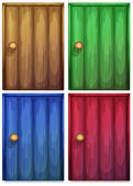 Four colourful doors — Stock Vector