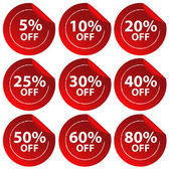 Discount stickers — Stock Vector