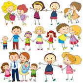 Family set — Stock Vector