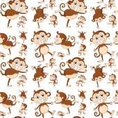 Seamless monkey — Stock Vector