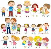 Happy and loving family — Stock Vector