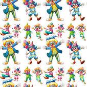 Seamless clowns — Stock Vector