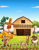 Farmhouse — Vector de stock