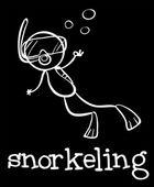 Snorkeling — Stock Vector