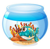 A fish inside the aquarium — Stock Vector
