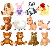 Stuffed animals — Stock Vector