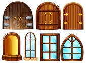 Portas e janelas — Vetorial Stock