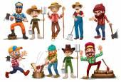 Farmers and Lumberjacks — Stock Vector