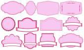 Empty pink label templates — Vector de stock