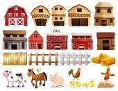 Juego de granja — Vector de stock