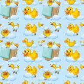 Seamless ducks — Stock Vector