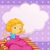 Girl dreaming — Stock Vector