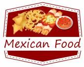 Mexican food — Stockvektor