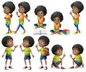 African-American kids — Stock Vector