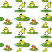 Seamless frogs — Stock Vector