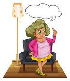 Woman in living room — Stock Vector