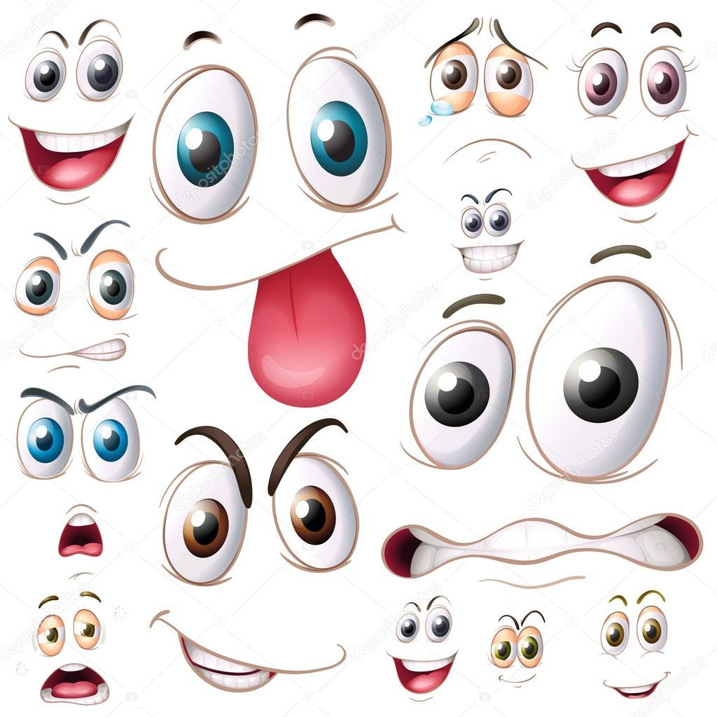 Распечатать нарисованные глазки для поделок