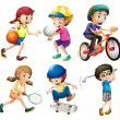 Children and sports — Stock Vector #52593799