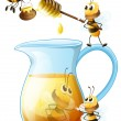 Bees and honey — Stock Vector #52594159