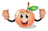 Peach — Stock Vector
