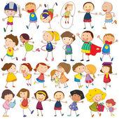 Children actions — Vector de stock