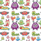 Seamless monsters — Stock Vector