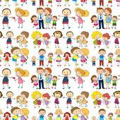 Seamless family — Stock Vector