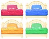 Bed set — Stock Vector
