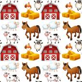 Seamless farm — Vector de stock