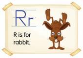 Letter R — Stock Vector