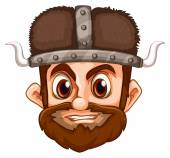Viking face — Stock Vector
