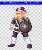 Violet viking — Stock Vector