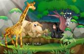 Animals in jungle — Stock Vector