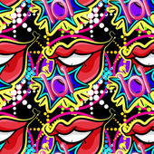 Seamless lips — Stock Vector