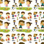 Seamless children — Stock Vector