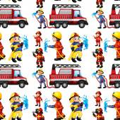 Seamless firefighters — Stock Vector