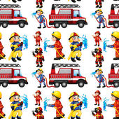 Seamless firefighters — Stockvector