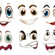 Different facial expressions — Stock Vector #52859343