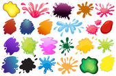 Painting ink splashes — Stock Vector
