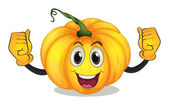 A strong squash with a smiling face — Stock Vector