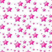 Seamless design with pink stars — Stock Vector