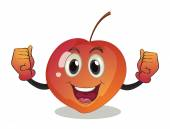 A smiling fruit — Stock Vector