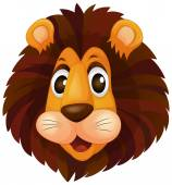 A head of a lion — Stock Vector